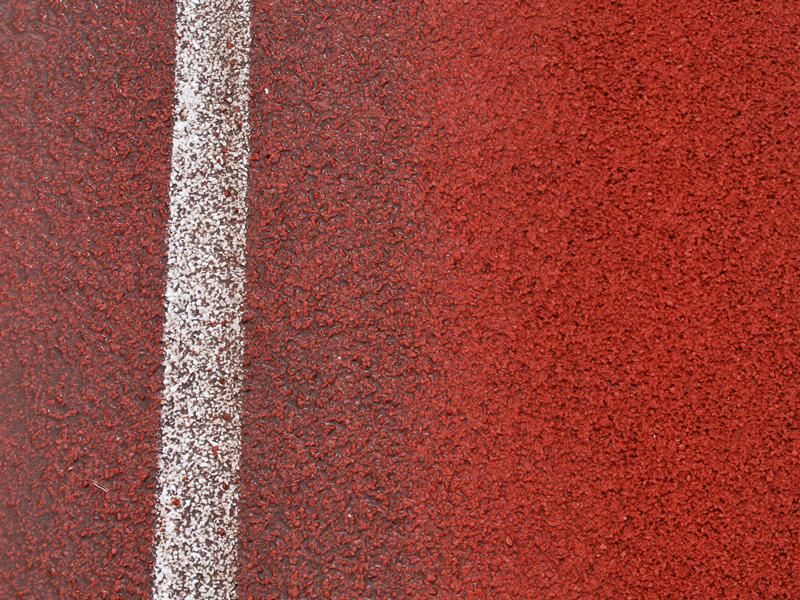 reinigen atletiekbaan